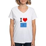 I Heart Photo t-shirt shop Women's V-Neck T-Shirt