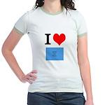 I Heart Photo t-shirt shop Jr. Ringer T-Shirt