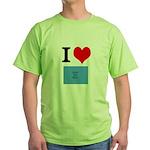 I Heart Photo t-shirt shop Green T-Shirt