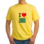 I Heart Photo t-shirt shop Yellow T-Shirt