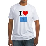 I Heart Photo t-shirt shop Fitted T-Shirt