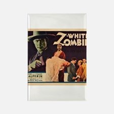 White Zombie Rectangle Magnet