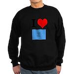 I Heart Photo t-shirt shop Sweatshirt (dark)