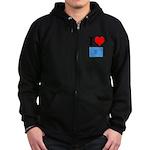 I Heart Photo t-shirt shop Zip Hoodie (dark)