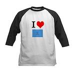 I Heart Photo t-shirt shop Kids Baseball Jersey