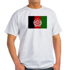 Afghanistan Flag Ash Grey T-Shirt