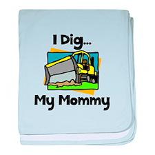 Dig Mommy baby blanket
