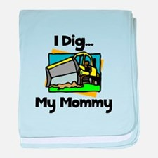 Dig Mommy baby blanket