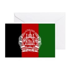 Afghanistan Flag Greeting Cards (Pk of 10)