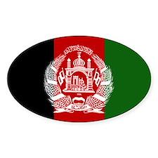 Afghanistan Flag Oval Decal