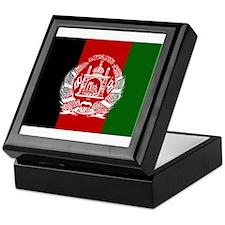 Afghanistan Flag Keepsake Box