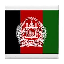 Afghanistan Flag Tile Coaster