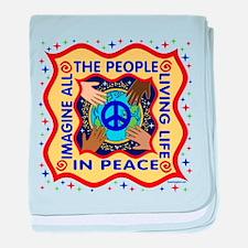 Hands of Peace baby blanket