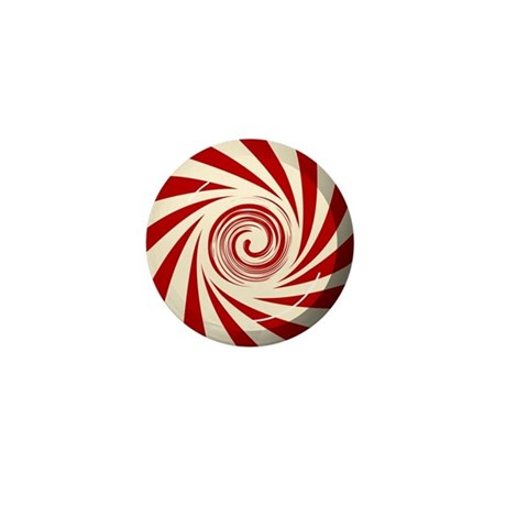 Red Peppermint Mini Button