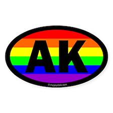 Alaska Gay Pride Euro Decal