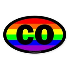 Colorado Gay Pride Euro Decal