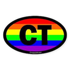 Connecticut Gay Pride Euro Decal
