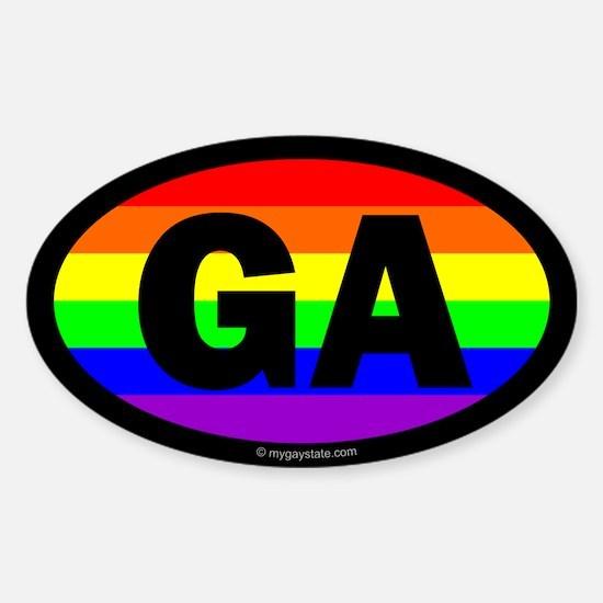 Georgia Gay Pride Euro Decal