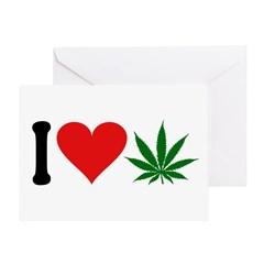 I Love Pot (symbol) Greeting Card