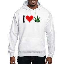 I Love Pot (symbol) Hoodie