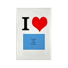 I Heart Photo Rectangle Magnet