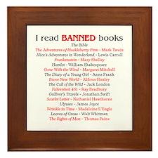 Cute Banned books Framed Tile