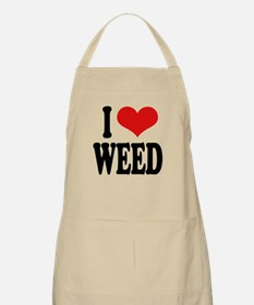 I Love Weed Apron