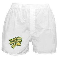 Captain Obvious Boxer Shorts