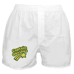Captain Obvious Boxer Shorts