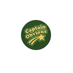 Captain Obvious Mini Button