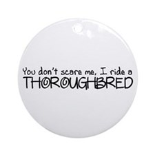 Thoroughbred Ornament (Round)