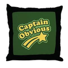 Captain Obvious Throw Pillow