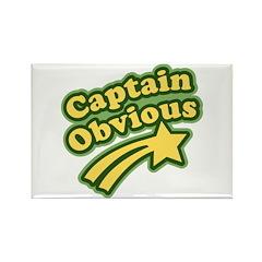 Captain Obvious Rectangle Magnet