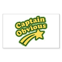 Captain Obvious Rectangle Decal
