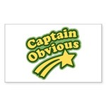 Captain Obvious Rectangle Sticker