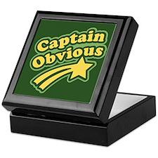 Captain Obvious Keepsake Box