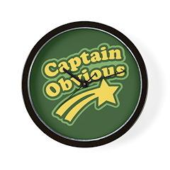 Captain Obvious Wall Clock
