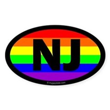 New Jersey Gay Pride Euro Decal