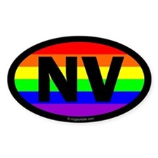 Nevada Gay Pride Euro Bumper Stickers