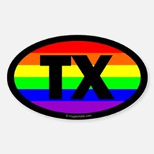 Texas Gay Pride Euro Decal