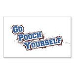 Go Pooch Yourself Sticker (Rectangle 50 pk)
