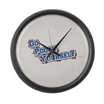 Go Pooch Yourself Large Wall Clock