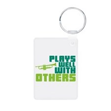 Plays Well with Others Aluminum Photo Keychain