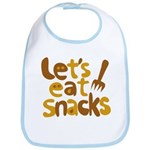 Let's Eat Snacks Bib