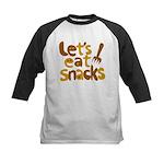 Let's Eat Snacks Kids Baseball Jersey