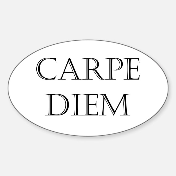 carpe diem Sticker (Oval)