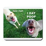 I eat poop 2c yay poop Classic Mousepad