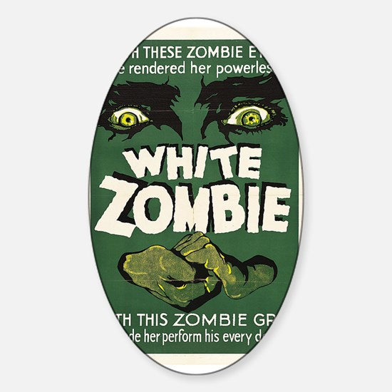White Zombie Sticker (Oval)