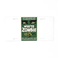 White Zombie Aluminum License Plate
