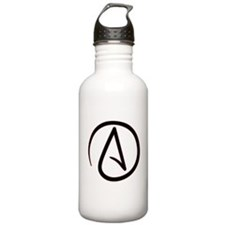 Atheist Symbol Sports Water Bottle